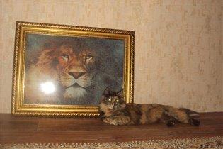 кошка Муся и лев