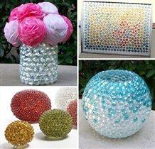 Поделки и декор со стеклянными шариками