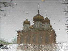 Отражение (Успенский собор Тульского кремля)