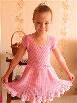 'Розовый нектар' винтажное платье крючком