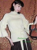 свитер реглан с поясом