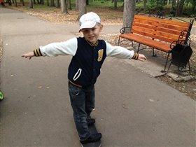 в парке, осенью!