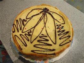 Торт из творога с шоколадом