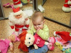 Мой первй Новый Год. Арина Николаева, 8 месяцев