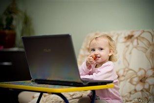 Общаюсь с бабушкой по Skype...