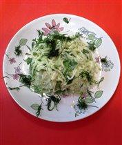 салат из редьки и сметаны 15%