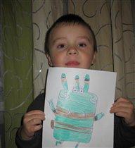 Сына нарисовал героя из 'Куми-Куми'