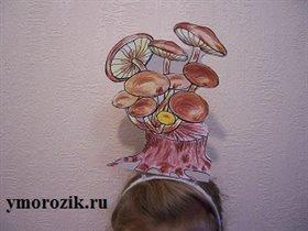 Ободок на голову с грибами ymorozik.ru