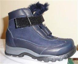 Зимние ботинки для мальчика синие