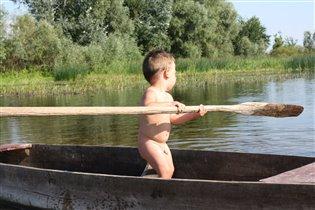 Гребля веслом