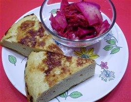 суфле из индейки и салат по-корейски
