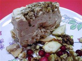 крем-суфле из ряженки с яблоками и орехами