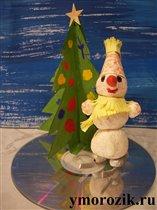 Снеговик на катке ymorozik.ru