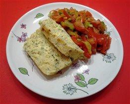 Суфле из трески и салат 'Зимний'