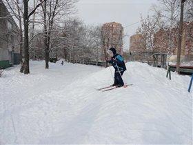 Первые успехи на лыжах