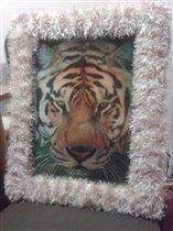 вид на тигра