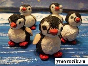 Поделка Пингвины из салфеток emorozik.ru