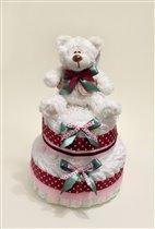 Торт из памперсов . Подарок для новорожденного.