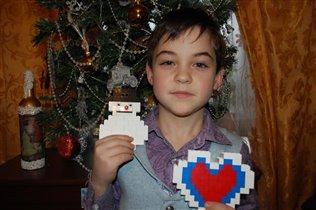 Снеговик и сердце LEGO