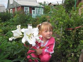 Это лилии такие большие, а не я такая маленькая!