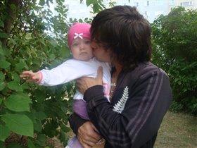 Полина с папочкой