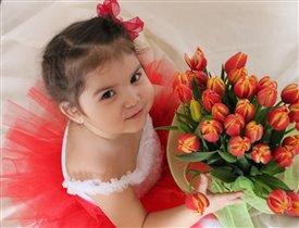 любимые цветы..