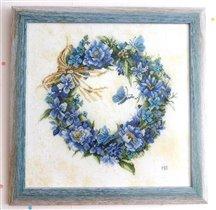 Lanarte 34736 Blue wreath. Голубой венок