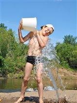 обливание холодной водой -залог здоровья!