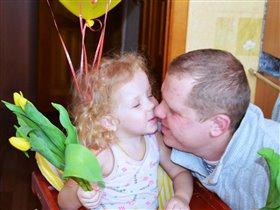 Цветочки на праздник от любимого папули))