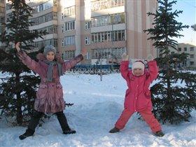 Физкультура на воздухе при -15 ЗДОРОВО