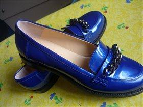 синие лоферы НМ