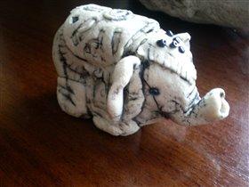 Слоник из соленого теста