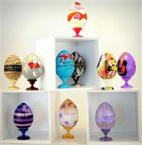 Выставка гигантских метровых пасхальных яиц
