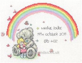 Tatty Teddy Rainbow Birth Sampler Anchor TT218