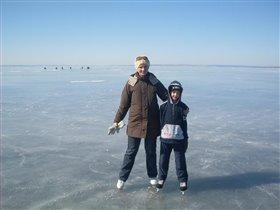 Мы со Степкой в последние зимние выходные апреля))