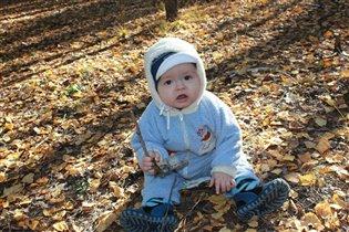 В теплый осенний денек гуляем по лесу!!!