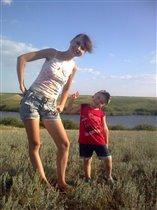 С любимым сыном на природе!