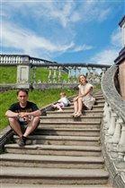 семья в Петергофе