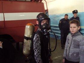 Яна в пожарной части