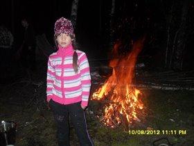 Яна. Ночь в лесу.