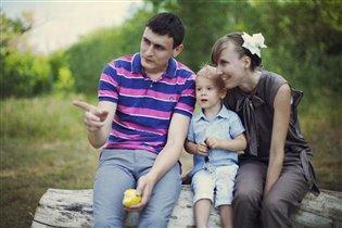 мама,папа, я - Счастливая семья!
