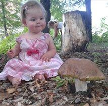 Первый гриб...