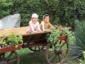 Двое в телеге, не считая герани)))