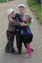 лучшие друзья - брат, сестра и я!