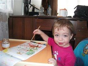 Юный художник!