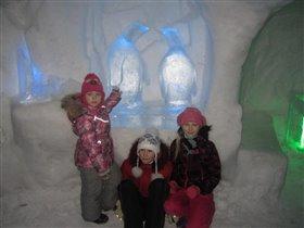 Весело в Снежной Деревни