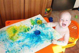Юная художница.