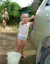 Любишь кататься,помогай машину мыть))))