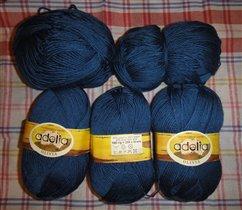 Синяя пряжа, темная 250р