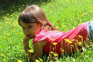 в цветочках полевых...